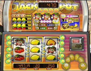 Jackpot 6000 spilleautomat fra NetEnt