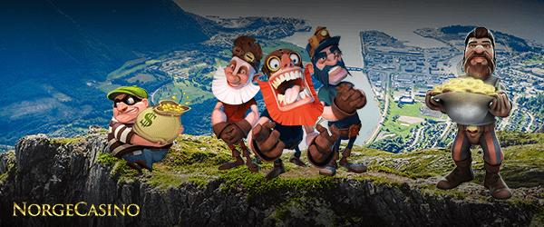 spillfigurer på et fjell