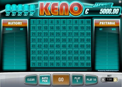 Keno på nett – spill Keno hos nettcasinoer