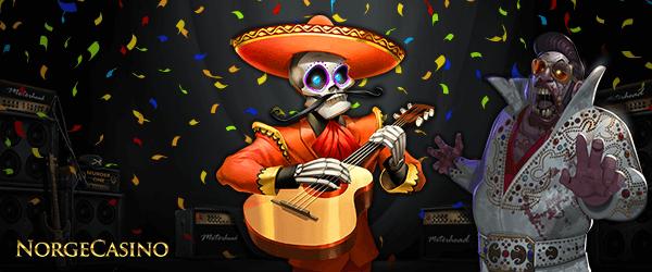meksikansk skjelett spiller gitar