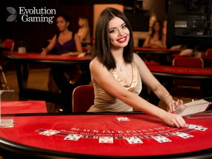 Eksempel på Live Casino fra Evolution Gaming