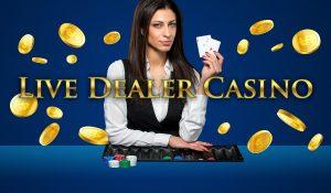 live dealer casino, kvinnelig dealer