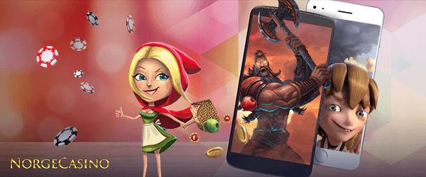 lille rødhette og casinospill på mobil