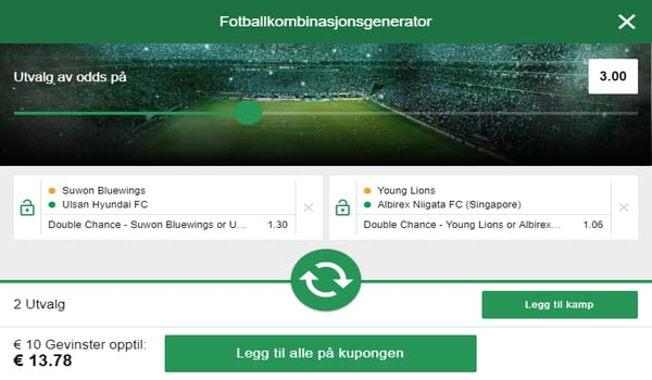 Odds og betting hos Mr Green