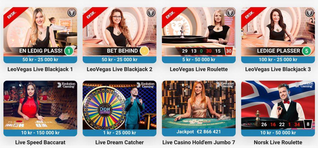 Live casino hos LeoVegas