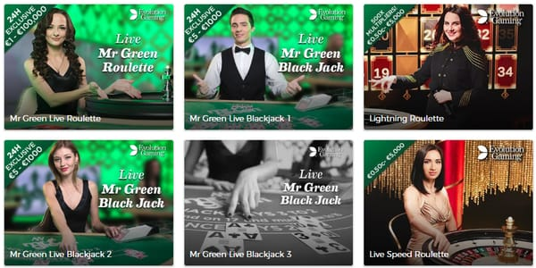 Live Casino hos Mr Green