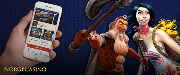 hånd med smarttelefoner og to figurer fra slots