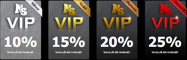 NordicSlots VIP bonuser