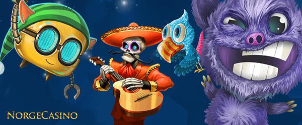 meksikanske skjelett, fugl og andre karakterer