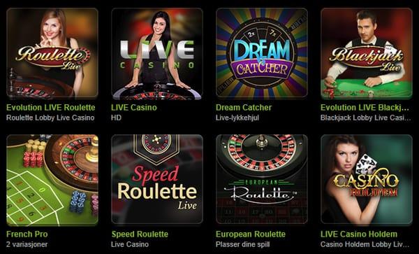 Live Casino hos Comeon