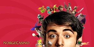 mann med spillfigurer rundt hodet
