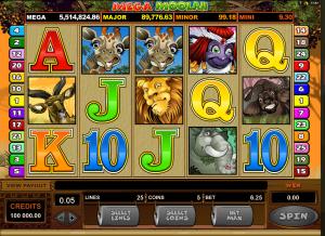 mega moolah, casinoland, norgecasino.com