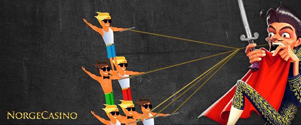menn som står i pyramide
