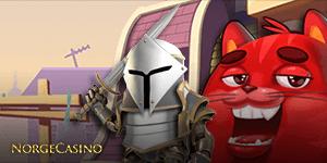 rød katt og rustning
