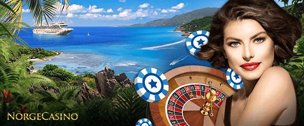 dame, roulettehjul og sjetonger