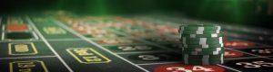 roulette bord med sjetonger