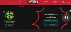 Skjermbilde fra BoomBet