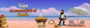 figurer fra spilleautomater på en strand