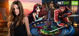 live dealer, roulettehjul, spillkarakterer