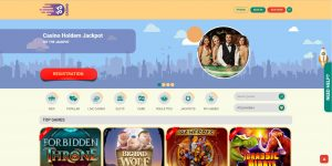 Screenshot av YoYo Casinos forside