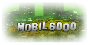 mobil6000 logo som hollywood skiltet