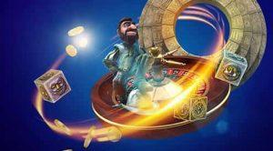 spillfiguten gonzo på et roulettehjul