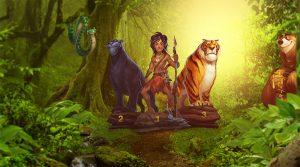 dyrene og mowgli fra jungelboken