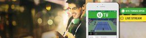 mann med hodetelefoner, mobil med sportsbetting