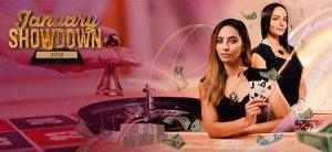 to kvinnelige live dealers, roulettebord