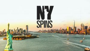 ny spins logo, new york city i bakgrunn