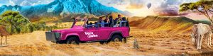verajohn jeep, afrikanske dyr