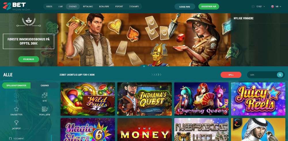 22Bet casino omtale
