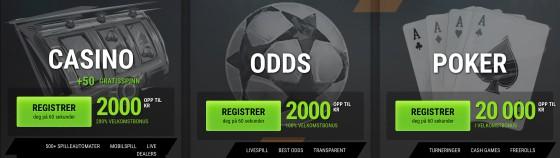Coolbet casino bonus utvalg