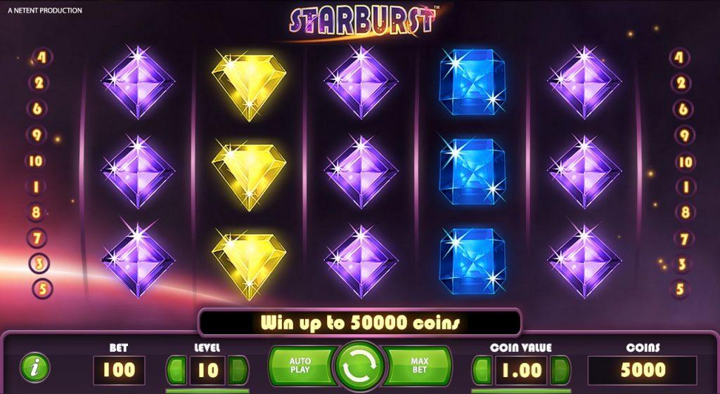 starburst spillskjerm
